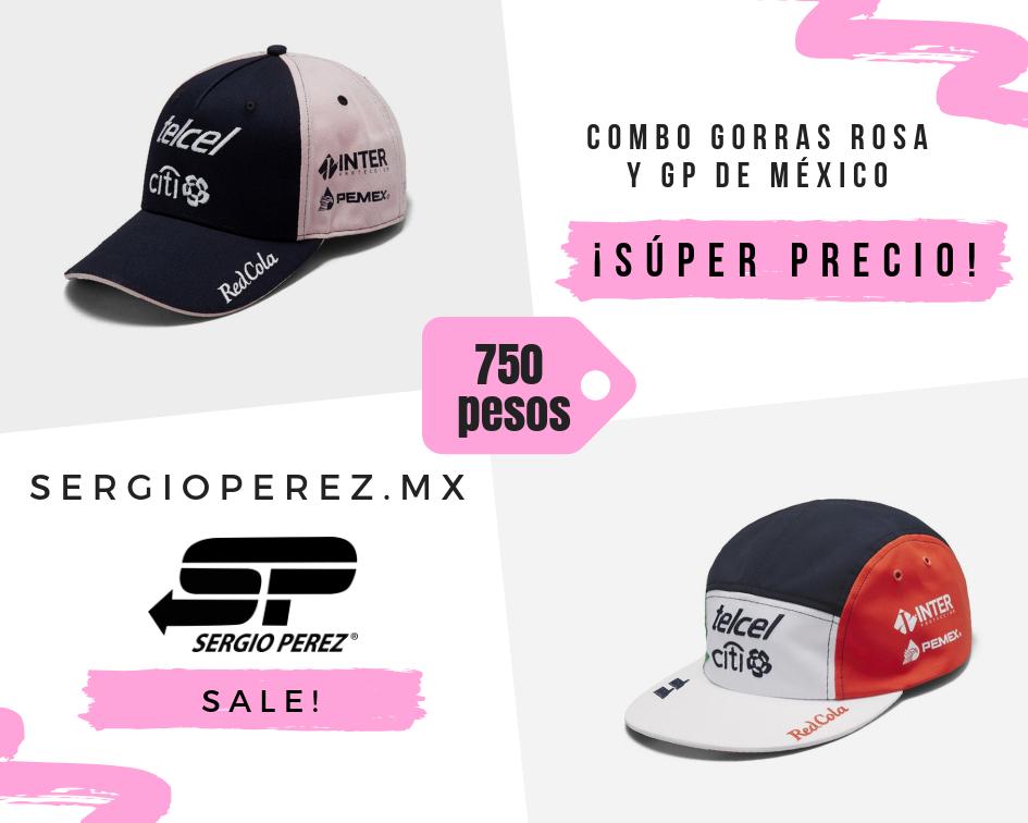 Combo gorra Rosa y Gorra GP de México
