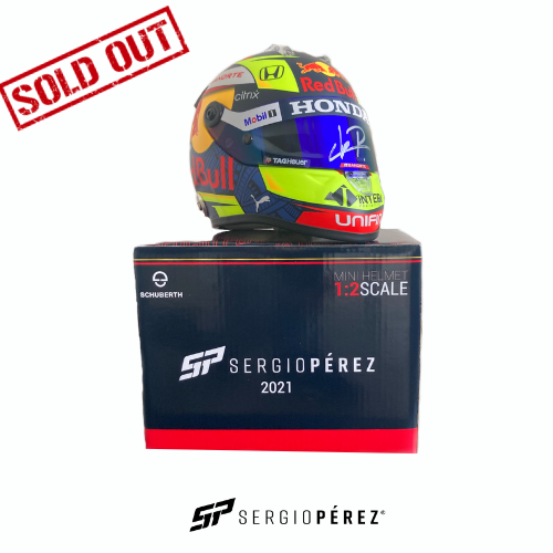 Mini Helmet 2021 Signed by Checo