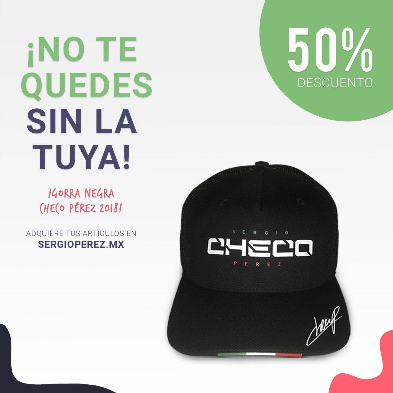 Gorra Checo Pérez 2018
