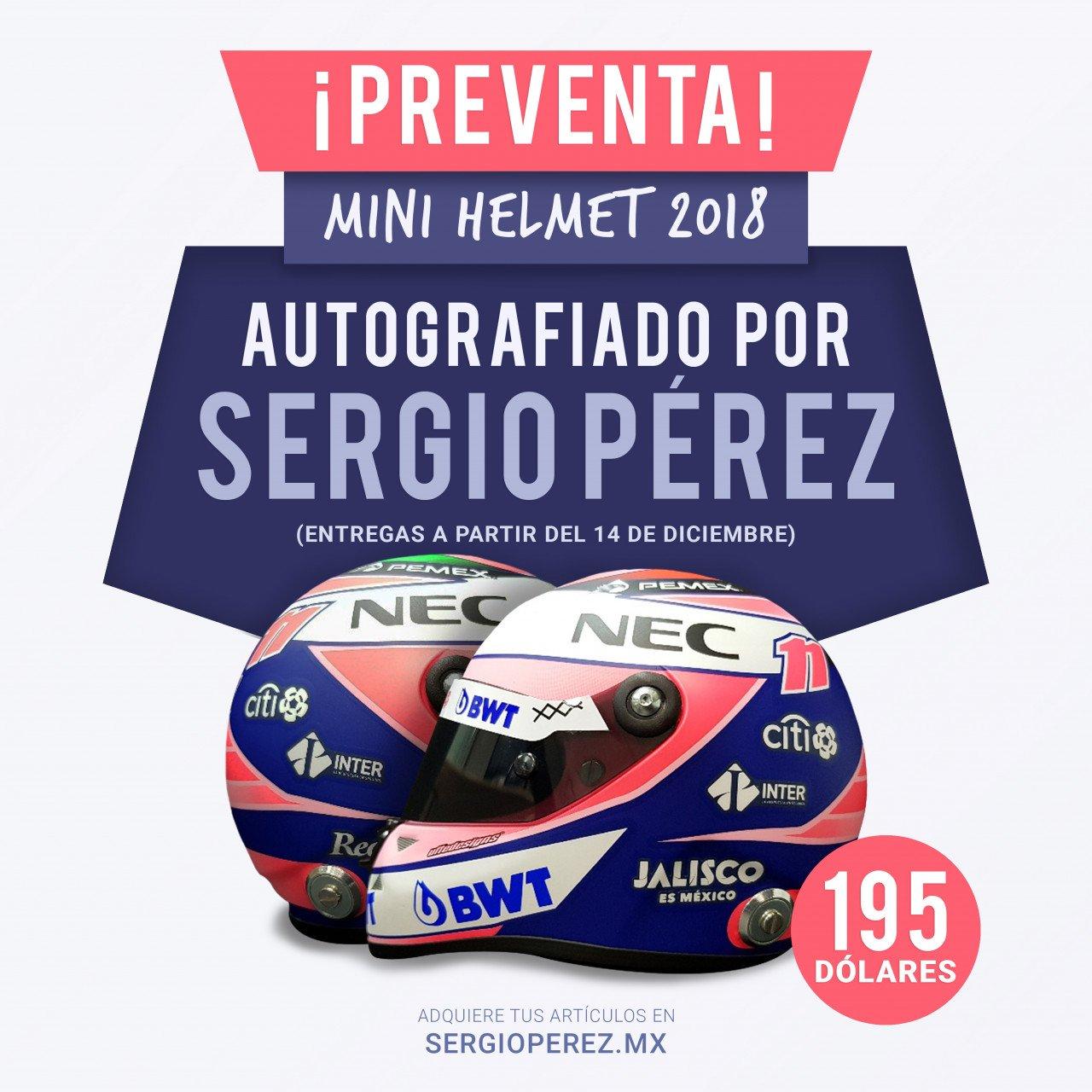 Mini Helmet 2018 Autografiado