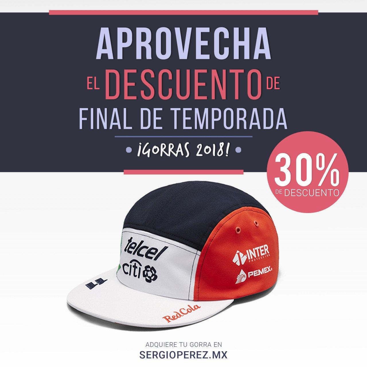 Gorra Sergio Pérez Edición GP de México 2018