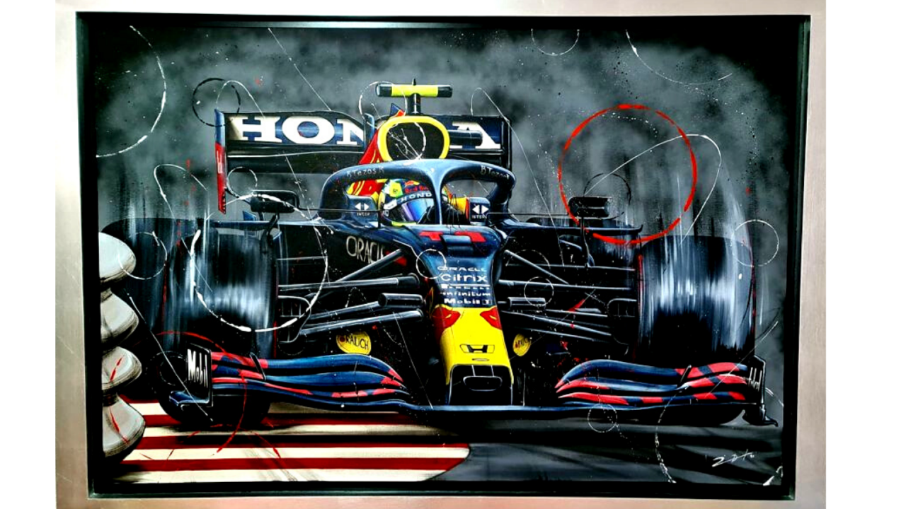 Sergio Perez Baku Painting (170 x 120 cm)  a % will be donated to Fundación Checo Pérez (shipping not included)