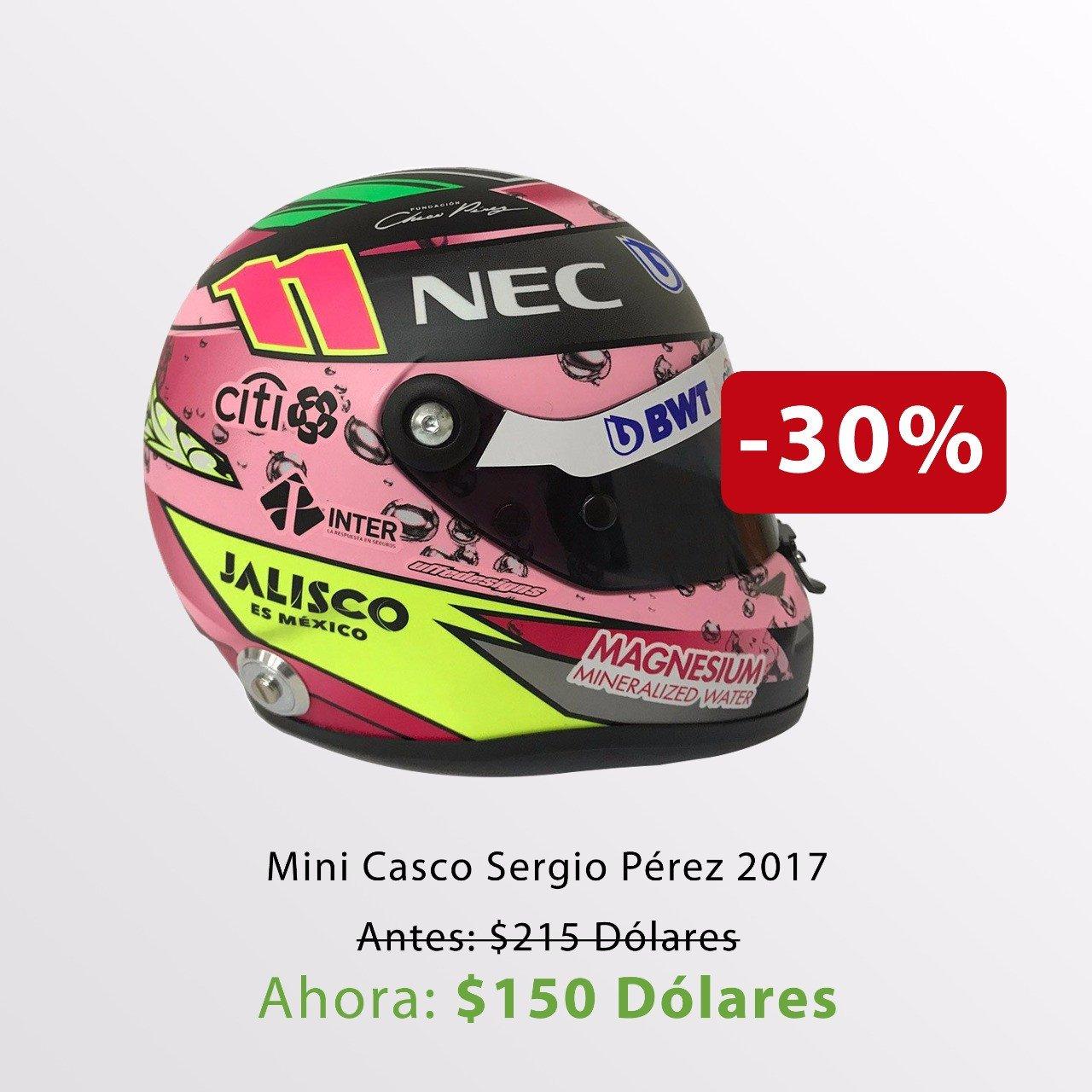 Mini Casco Sergio Perez 2017