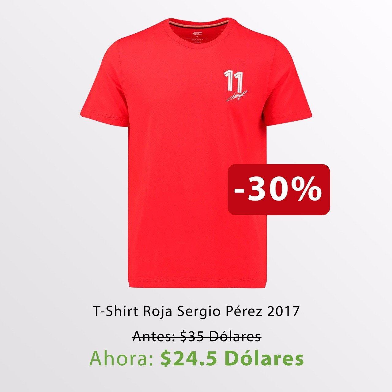 Camiseta Checo Pérez 11 / Checo Perez 11 T-Shirt