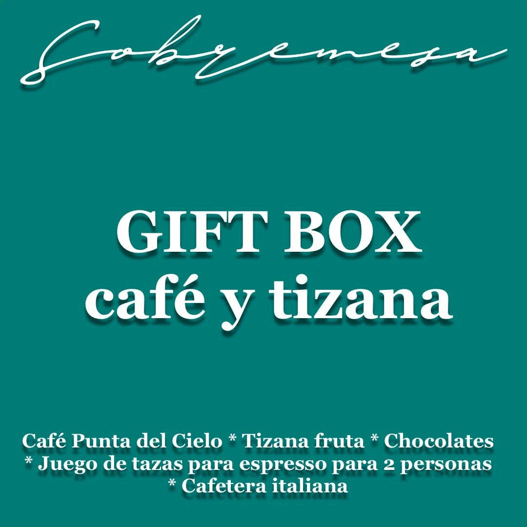 GIFT BOX CAFÉ Y TIZANAS - desde