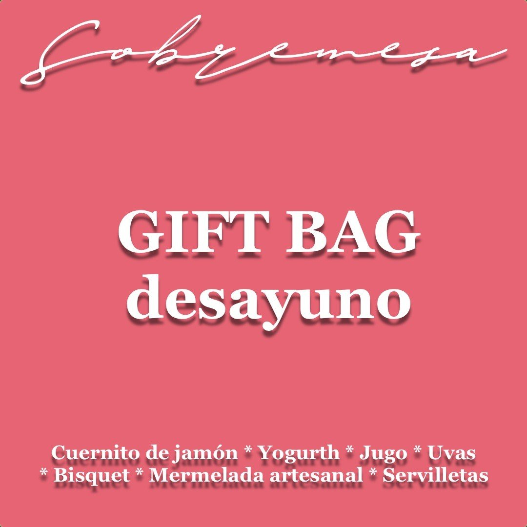 GIFT BAG DESAYUNO - desde