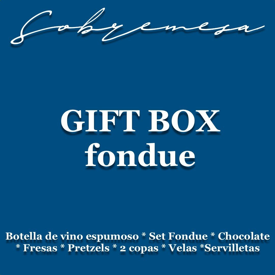 GIFT BOX FONDUE DE CHOCOLATE