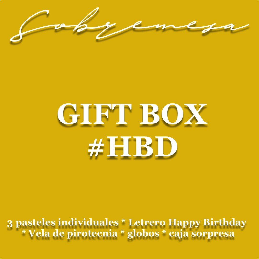 GIFT BOX #HBD