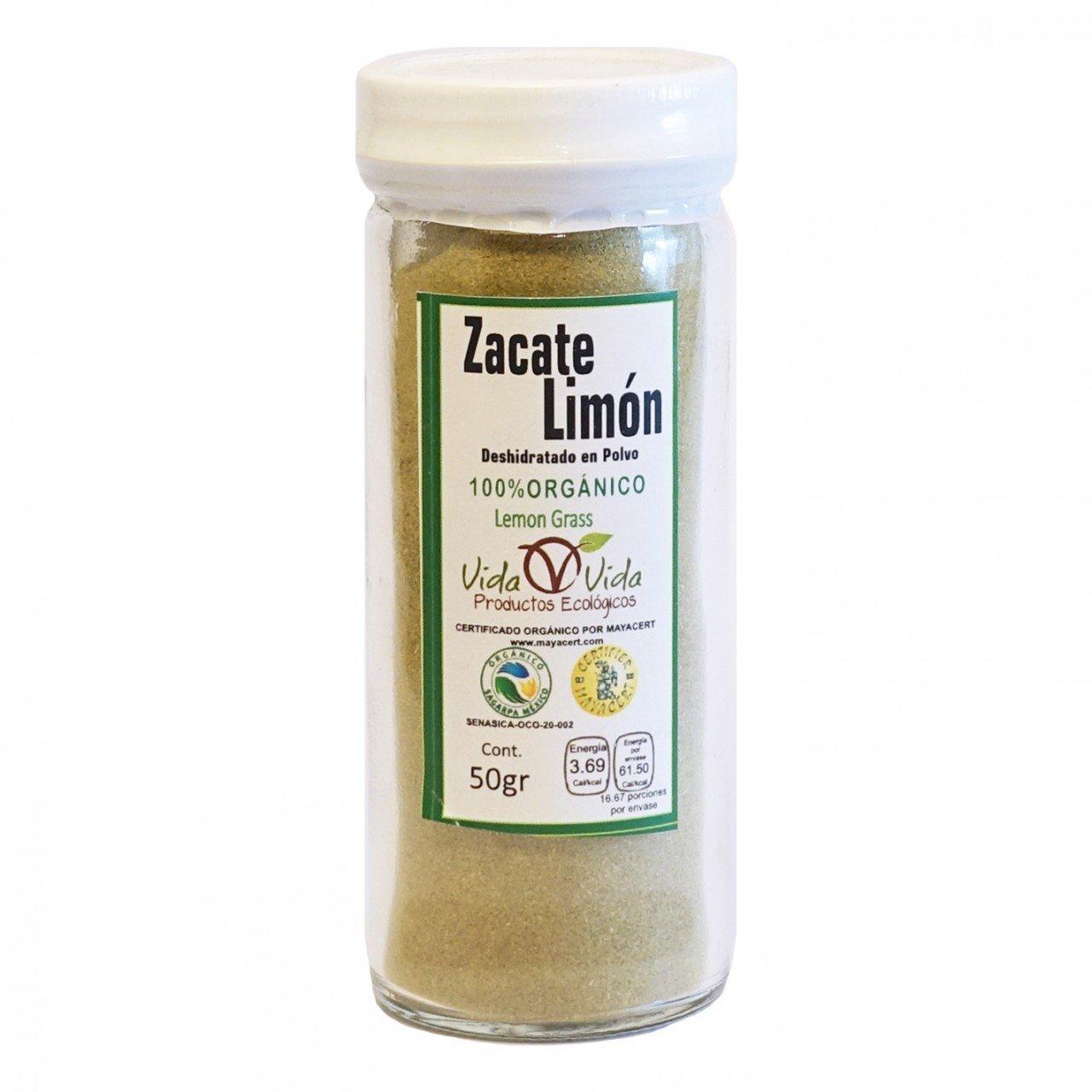 Té Zacate Limón molido orgánico 50gr