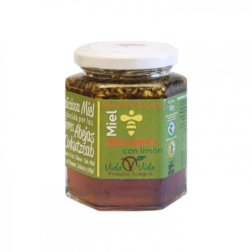 Miel de abeja orgánica con limón 350 gr