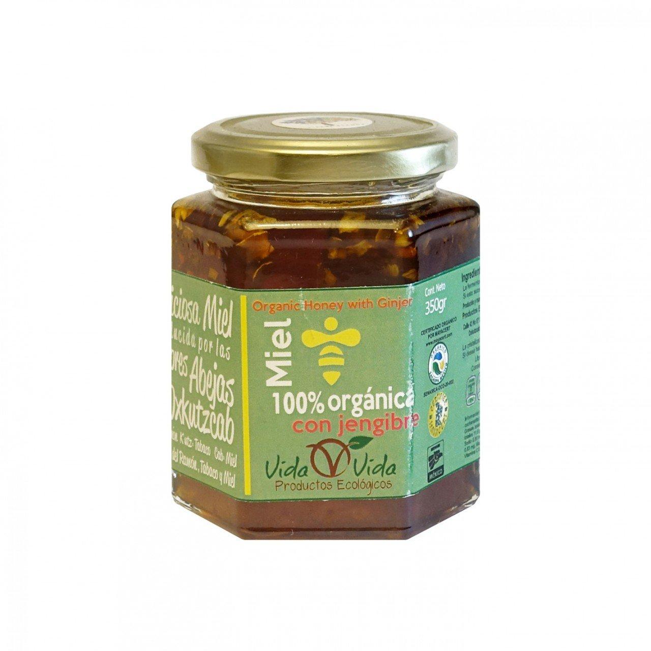 Miel de abeja orgánica con jengibre 350 gr