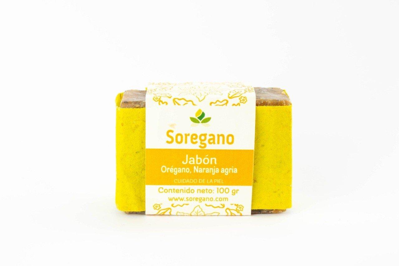 Jabón Orégano y Naranja