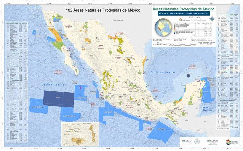Mapa de áreas naturales protegidas