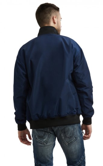 FRAGMENTED NYLON BOMBER JACKET