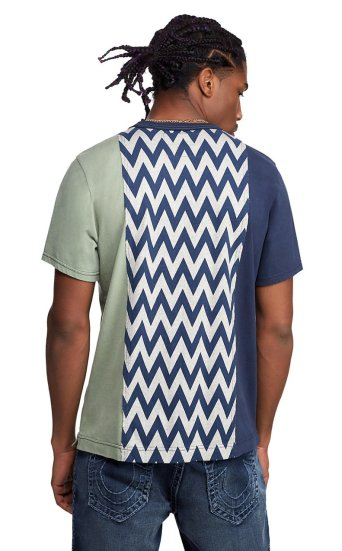 VERTICAL PANEL CHEVRON TEE