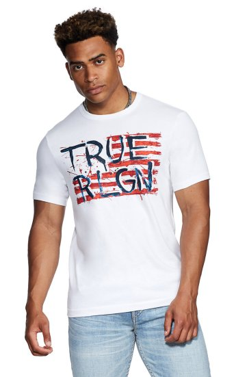 SS TRUE PAINTED FLAG TEE