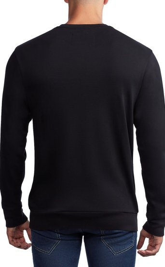 HORSESHOE CUT UP CREW NECK