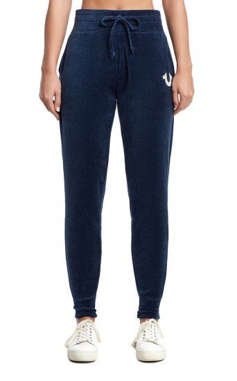 CRYSTL HORSESHOE VELOUR JOGGER