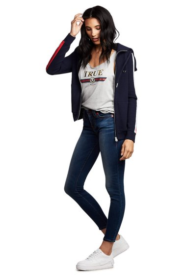 image of WOMENS TR X MANCHESTER UNITED HALLE SUPER SKINNY JEAN