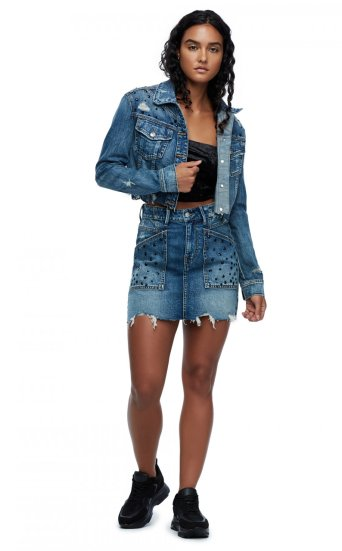 CUT OFF DENIM JACKET
