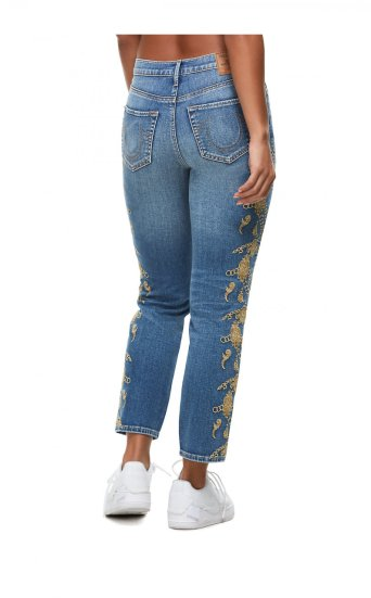 BILLIE EMBROIDERED HIGH RISE ANKLE JEAN