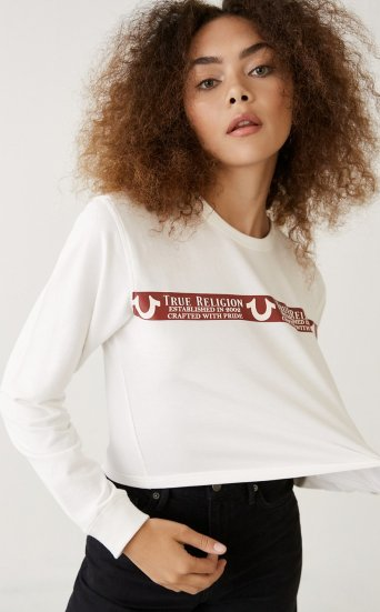 LONG SLEEVE LOGO CROP TEE