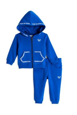 BABY BOY EMBROIDERED HOODIE SET