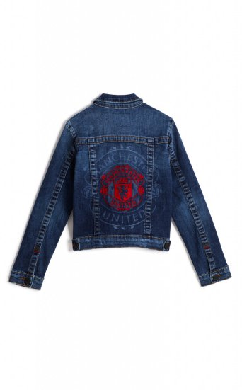 GIRLS TR X MANCHESTER UNITED TRUCKER JACKET