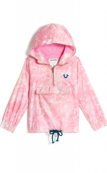 GIRLS SPLATTER PULLOVER WINDBREAKER