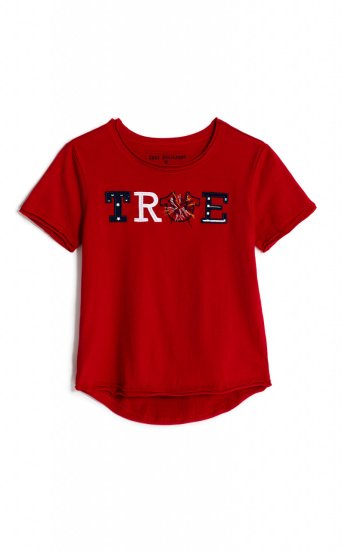 GIRLS TRUE 4TH FIREWORKS TEE
