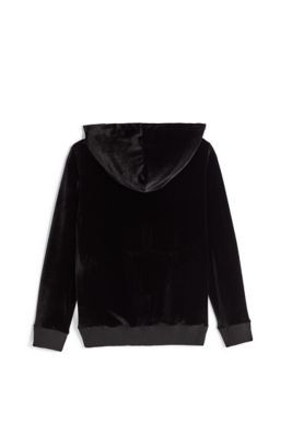 KIDS VELOUR ZIP UP HOODIE