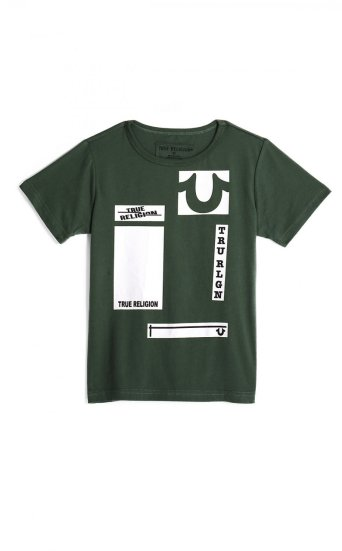 BIG KIDS BOYS BOX LOGO GRAPHIC TEE