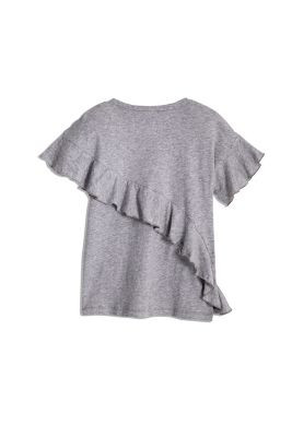 STUD AND RUFFLE TEE