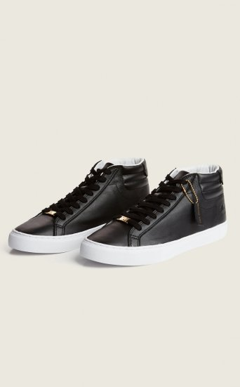 TR HIGHTOP LEATHER SNEAKERS