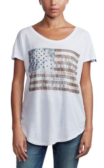 CREW TSHIRT AMERICAN FLAG
