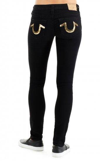 SKINNY BLACK SN GOLD SEQUIN HS