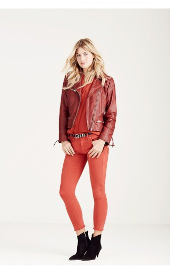 LACE UP LEATHER MOTO