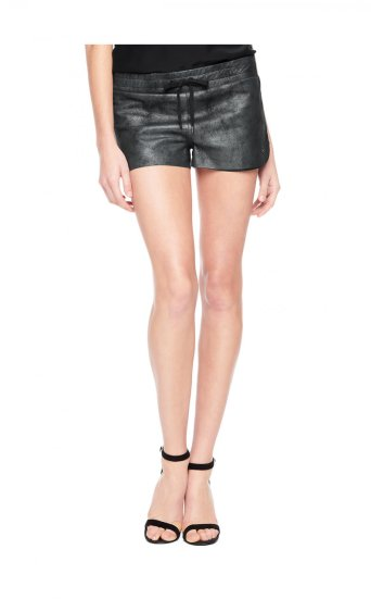 LEATHER RUNNING SHORT