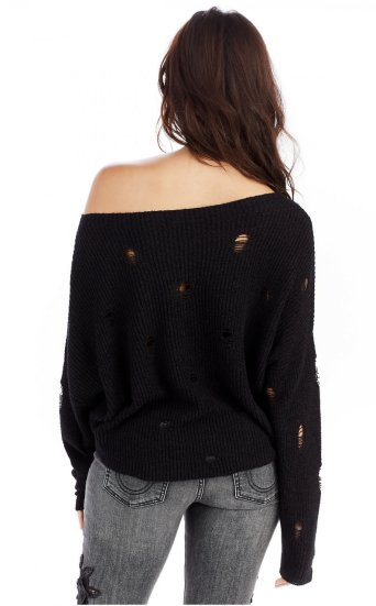 CROP DISTRESS SWEATER