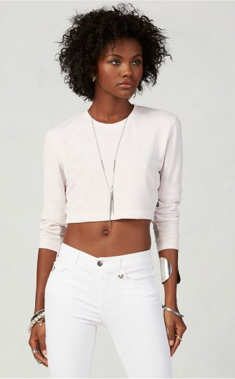 FT LS FITTED CROP SWEATSHIRT