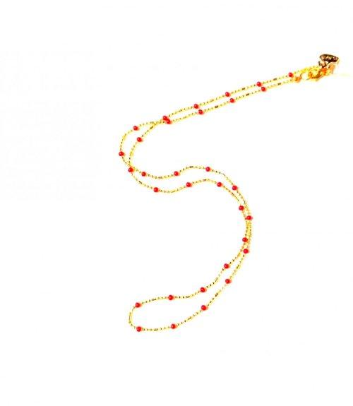 Cadena delicada. Chapa Oro Rojo