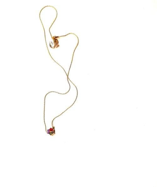 Collar 3 Circonias Rainbow. Ch. Oro Circonias