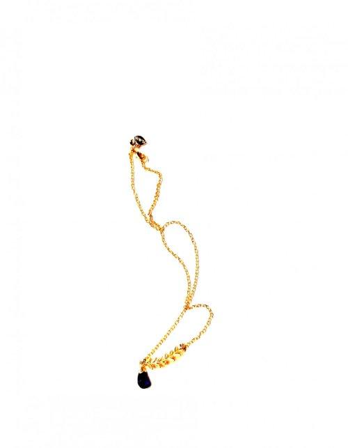 Collar Amatista y chapa de Oro MORADO
