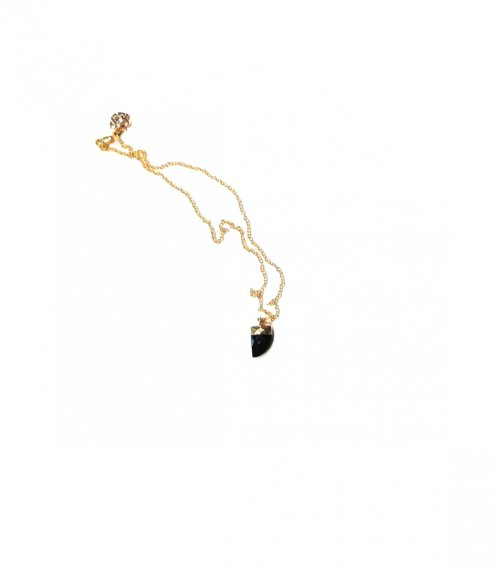Collar GEMA SEMIPRECIOSA: Black Spinel. negro