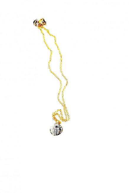 Collar Ojo turco. Circonias y Espinelas. Ch.Oro Circonia Espinelas