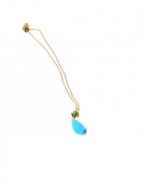 Collar cristales y swarovski. Oro AZUL
