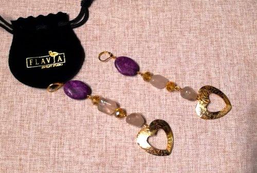 Aretes Cuarzo, Jaspe,  y cristales cuarzo