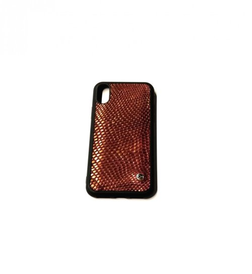 Case Iphone x/xS Lizard vino dorado