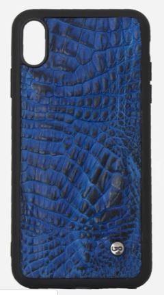 Phone Case iphone XR Cocodrilo azul