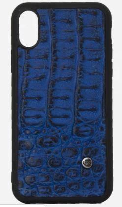 Phone case iphone X Cocodrilo Azul